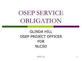 OSEP SERVICE OBLIGATION