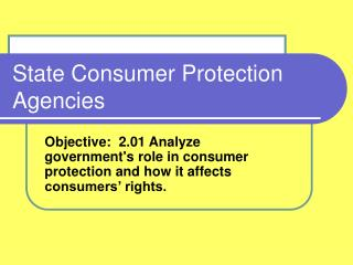 State Consumer Protection Agencies