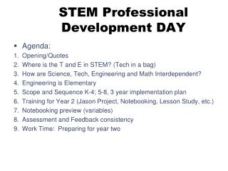 STEM Professional Development DAY