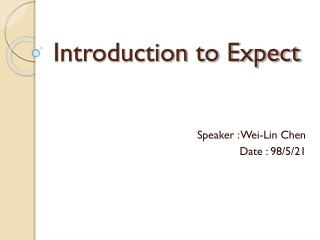 Introduction to Expect