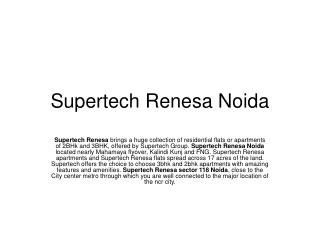 Supertech Renesa, Supertech Group, Flats and Apartments in S