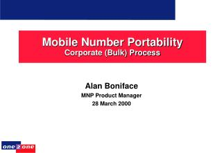 Mobile Number Portability Corporate (Bulk) Process