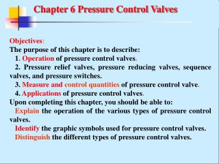 Chapter 6 Pressure Control Valves