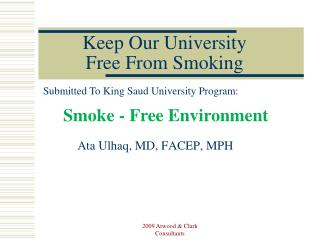 Keep Our University  Free From Smoking