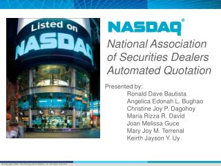 National Association of Securities Dealers Automated Quotation