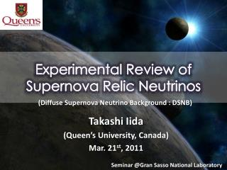 Experimental Review of  Supernova Relic Neutrinos