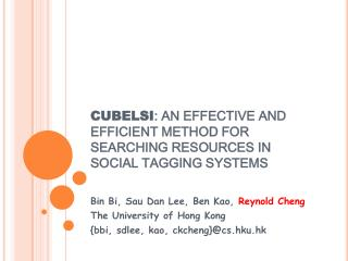 CUBELSI : AN EFFECTIVE AND EFFICIENT METHOD FOR SEARCHING RESOURCES IN SOCIAL TAGGING SYSTEMS