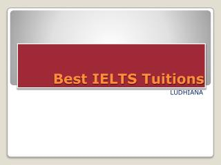 Best IELTS Tuitions
