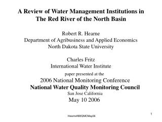 paper presented at the  2006 National Monitoring Conference