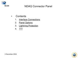 NDAQ Connector Panel