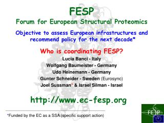 FESP Forum for European Structural Proteomics