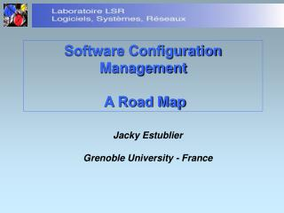 Software Configuration Management  A Road Map