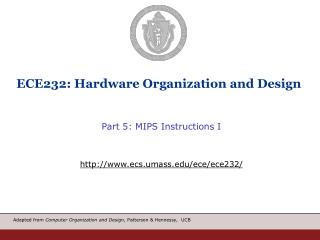 ECE232: Hardware Organization and Design