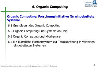 6. Organic Computing