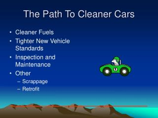 The Path To Cleaner Cars