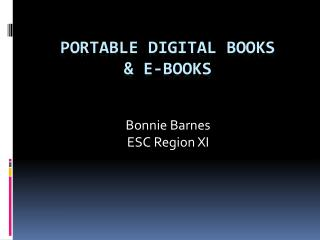 Portable Digital Books & E-Books