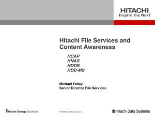 Hitachi File Services and Content Awareness