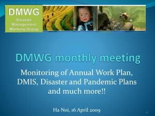 DMWG monthly meeting