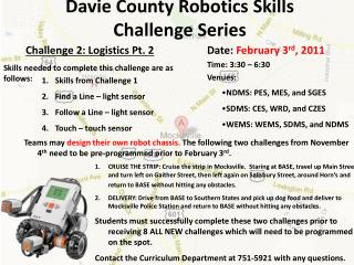 Davie County Robotics Skills Challenge Series