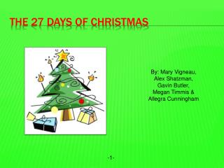 The 27 Days of Christmas