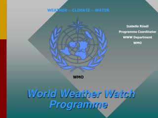 World Weather Watch Programme