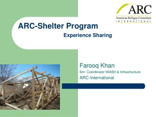 ARC-Shelter Program Experience Sharing