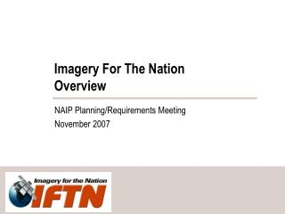 Imagery For The Nation  Overview