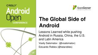 The Global Side of Android