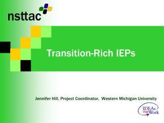 Transition-Rich IEPs