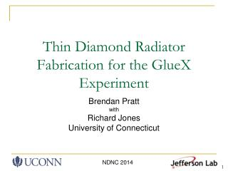 Thin Diamond Radiator Fabrication for the GlueX Experiment