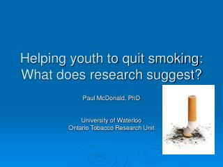 Helping youth to quit smoking:  What does research suggest?