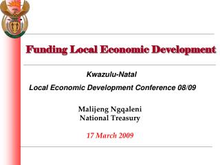 Funding Local Economic Development