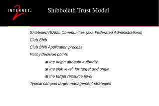 Shibboleth Trust Model
