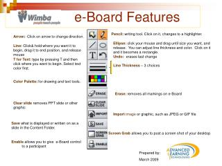 e-Board Features
