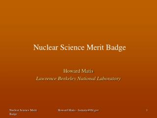 Nuclear Science Merit Badge