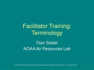 Facilitator Training: Terminology