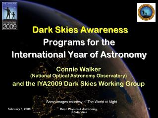 Dark Skies Awareness Programs for the  International Year of Astronomy