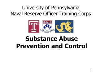 Substance Abuse  Prevention and Control
