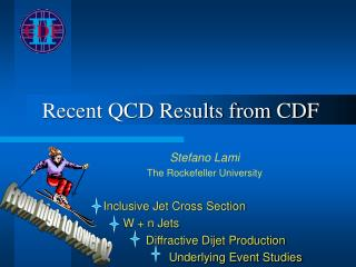 Recent QCD Results from CDF
