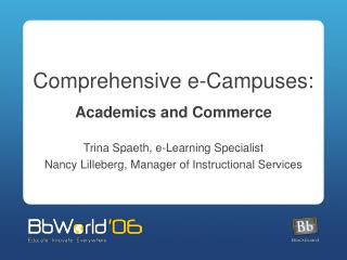 Comprehensive e-Campuses:
