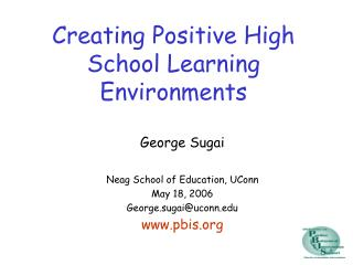 Creating Positive High School Learning Environments