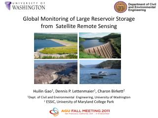 Global  Monitoring  of  Large Reservoir Storage  f rom  Satellite Remote Sensing