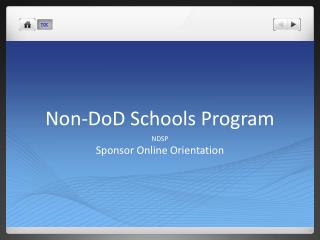 Non-DoD Schools Program