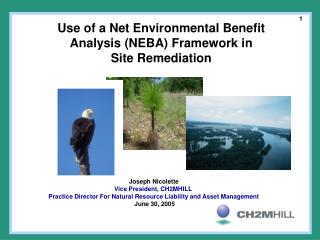 Use of a Net Environmental Benefit  Analysis (NEBA) Framework in  Site Remediation