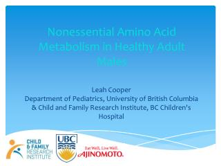 Nonessential Amino Acid Metabolism in Healthy Adult Males