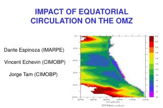 IMPACT OF EQUATORIAL CIRCULATION ON THE OMZ