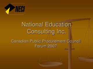 National Education Consulting Inc.
