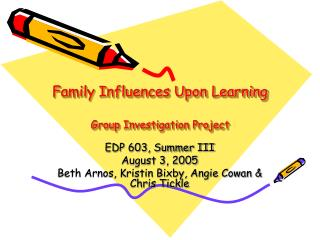 Family Influences Upon Learning  Group Investigation Project
