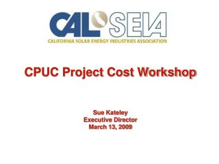 CPUC Project Cost Workshop