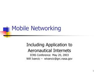 Mobile Networking